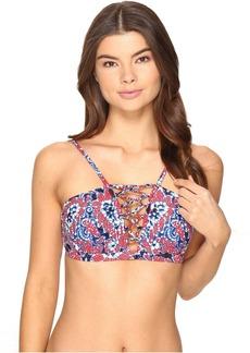 Angelina Lace-Up Bikini Top