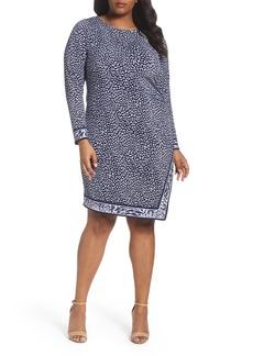 MICHAEL Michael Kors Animal Print Faux Wrap Dress (Plus Size)