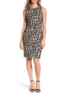 MICHAEL Michael Kors Animal Print Sheath Dress