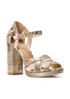 MICHAEL Michael Kors Annaliese Snake Embossed Platform High Heel Sandals