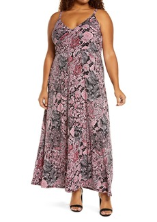 MICHAEL Michael Kors Arabesque Paisley Maxi Dress (Plus Size)