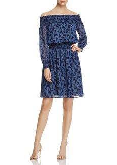 MICHAEL Michael Kors Arbor Off-the-Shoulder Smock Dress