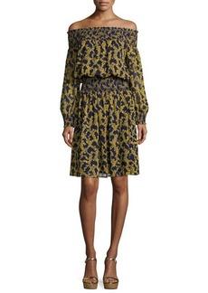 MICHAEL Michael Kors Arbor Off-the-Shoulder Smocked Dress