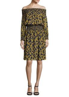 MICHAEL MICHAEL KORS Arbor Smocked Off-The-Shoulder Dress