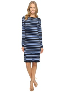 MICHAEL Michael Kors Ardennais Long Sleeve Boat Neck Dress