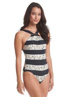 MICHAEL Michael Kors® Ashton High Neck Maillot One-Piece Swimsuit