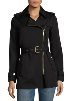 MICHAEL Michael Kors Assymetrical Zip Trench Coat