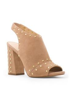 MICHAEL Michael Kors Astor Suede Studded Slingback Block Heel Sandals