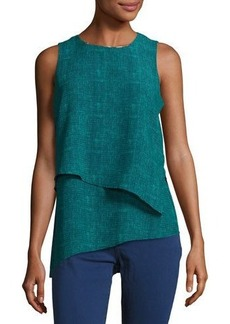 MICHAEL Michael Kors Asymmetric Layered Tank
