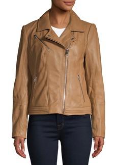 MICHAEL Michael Kors Asymmetric Moto Jacket