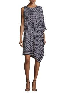 MICHAEL MICHAEL KORS Asymmetric Printed Dress