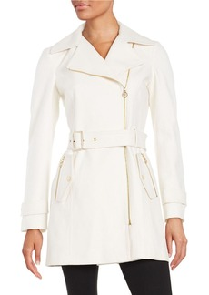 MICHAEL MICHAEL KORS Asymmetric Wool-Blend Trench