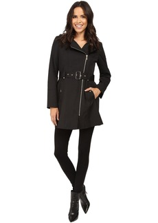MICHAEL Michael Kors Asymmetric Zip Front Belted Trench M722395T