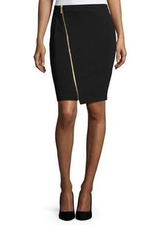 MICHAEL Michael Kors Asymmetric-Zip Pencil Skirt