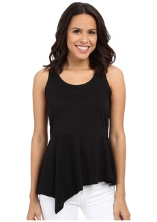 MICHAEL Michael Kors Asymmetrical Flounce Sleeveless Top