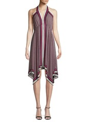 MICHAEL Michael Kors Asymmetrical Halter A-Line Dress