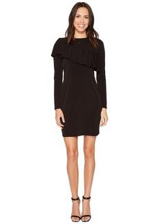 MICHAEL Michael Kors Asymmetrical Ruffle Long Sleeve Tee Dress