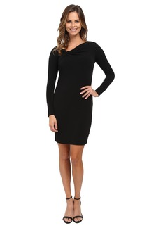 MICHAEL Michael Kors Asymmetrical Twist Neck Dress