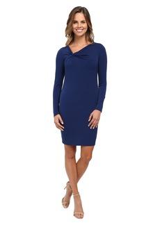 MICHAEL Michael Kors Asymmetrical Twist Neck Dress