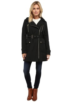 MICHAEL Michael Kors Asymmetrical Zip Trench