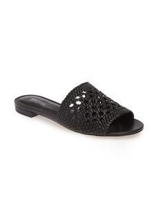 MICHAEL Michael Kors Augustine Cane Weave Slide Sandal (Women)