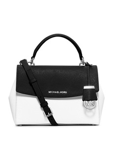 MICHAEL MICHAEL KORS Ava Small Leather Satchel