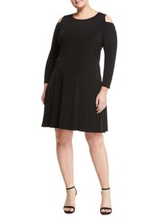 MICHAEL Michael Kors Plus Banded Cutout Crepe Dress