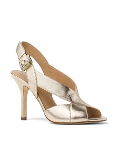 MICHAEL Michael Kors Becky Metallic Leather Slingback Sandals
