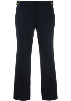 Michael Michael Kors bell bottom cropped trousers - Blue