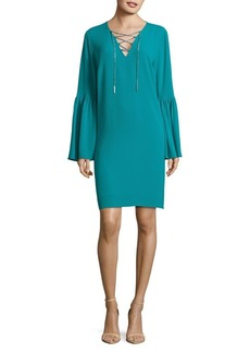 MICHAEL Michael Kors Bell-Sleeve Shift Dress
