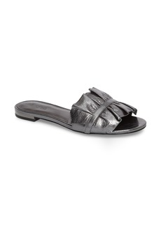 MICHAEL Michael Kors Bella Ruffle Slide Sandal (Women)