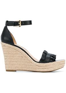 Michael Michael Kors Bella ruffled wedge sandals - Black