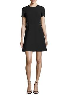 MICHAEL MICHAEL KORS Belt Detail A-Line Dress