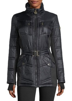 MICHAEL Michael Kors Belted Active Puffer Jacket