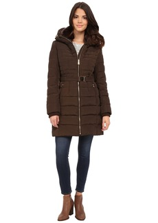MICHAEL Michael Kors Belted Club Collar w/ Zip Out Hood