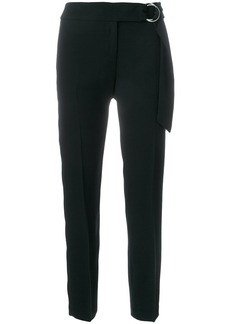 Michael Michael Kors belted cropped tailored trousers - Black