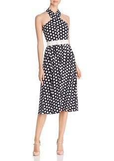 MICHAEL Michael Kors Belted Dot-Print Dress