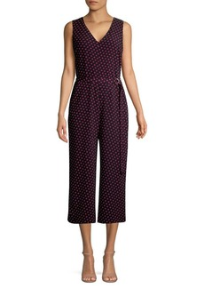 MICHAEL Michael Kors Belted Dotted Jumpsuit
