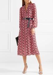 d637cbd6cda ... MICHAEL Michael Kors Belted floral-print crepe midi dress ...