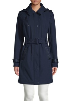 MICHAEL Michael Kors Belted Hooded Coat
