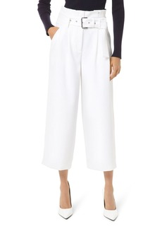 MICHAEL Michael Kors Belted Paperbag-Waist Culottes