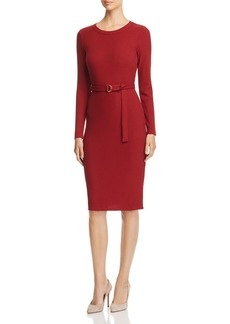 MICHAEL Michael Kors Belted Rib-Knit Dress