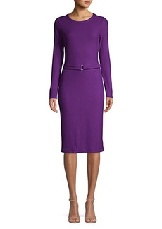 MICHAEL Michael Kors Belted Ribbed Dress