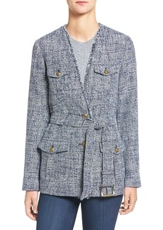 MICHAEL Michael Kors Belted Tweed Blazer