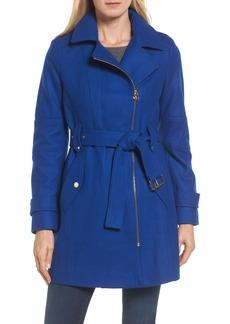 MICHAEL Michael Kors Belted Wool Blend Coat with Detachable Hood