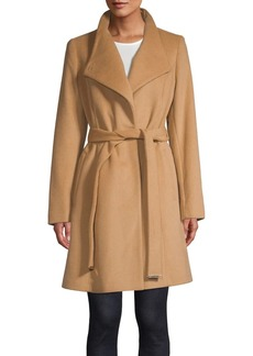 MICHAEL Michael Kors Belted Wool-Blend Wrap Coat