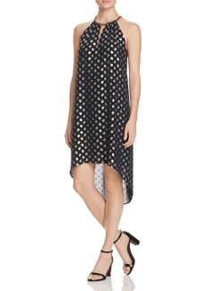 MICHAEL Michael Kors Bergalia Foil Print High/Low Dress