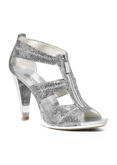 MICHAEL Michael Kors Berkley Metallic T-Strap High Heel Sandals