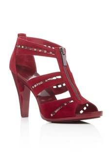 MICHAEL Michael Kors Berkley Punch Embellished T-Strap Sandals