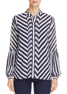MICHAEL Michael Kors Bias-Stripe Shirt